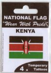 Kenya Country Flag Tattoos.